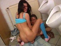Debbie humped in public toilet