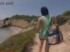 Valentina Nappi fucked on beach in public