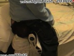 Str8 Thug Master Having His Ass Serviced By His Slave.