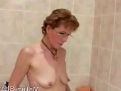 Granny Shaves Her Cock Hungry Vagina