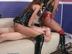 Bonnie Rotten & a friend dominates one guy