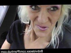 Blonde granny is fucked hard do