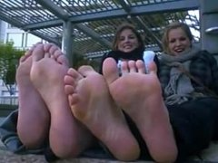 2 ladies with pretty feet
