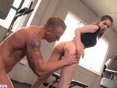PURE XXX FILMS Stunning Stella Cox banged at the gym