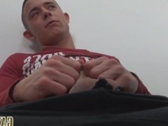 Chav loves playing with his long foreskin while he jerks it