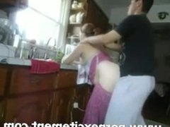 Quickie Doggy Style Fuck with Wife Over the Sink
