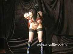 Electro bdsm and breast bondage of enslaved Emily Sharpe in extreme pain