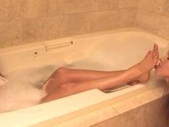 feet worship in tub