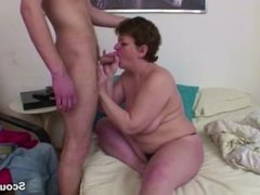 German Mom get wake up by young boy and Anal fucked in ass