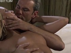 Sexy cowgirl mouth creampie