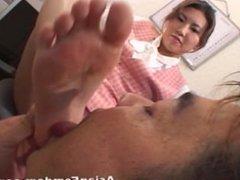 asian foot worship / foot licking / foot fetish /