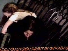 Lesbian bondage with hot school girl