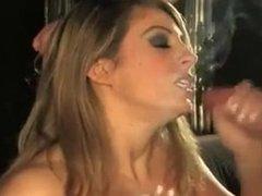 Blonde BBW smoking sex 120s