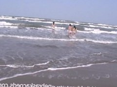 university sorority trip on the beach skinny dipping