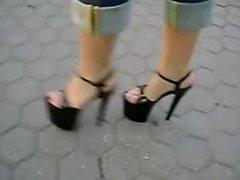 high heels walk in the park