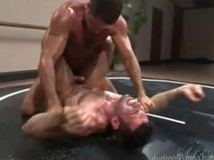 Muscled Studs Oil Up and Fight