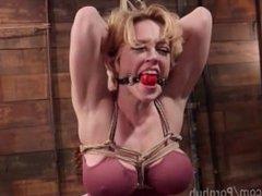Big-Tittied Blonde MILF Bondage