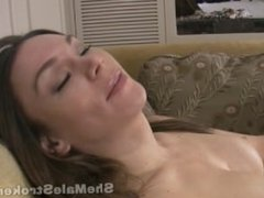 TS Brooke Shemale Strokers Jerk with Cum and Eating Own Jizz