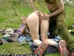 Training my slave Mary in nature