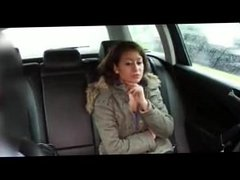 FakeTaxi Hot Hot Green student lets cabbie cum in her mouth