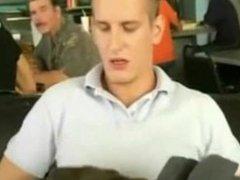 Waitress Interrupts Public Blowjob