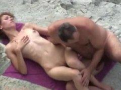 On beach fucks his wife