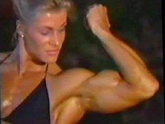 FBB Anja Langer Posing Biceps Bikini