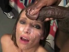 Jamie Jackson takes several nasty bbc cum loads