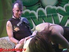 Bianca Resa y Nora Barcelona vampire threesome fuck on stage by Viciosillos