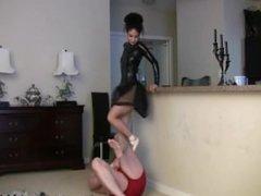 Mistress Sara Akeera Trampling in Ballet Slippers