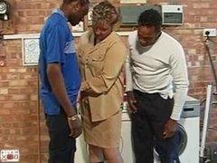 Big Omar's British Adventures - Housewives Gang Bang, Scene 2