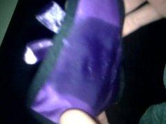 Cum on Girlfriend's Panties #1 Purple string