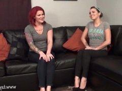 Lesbian worship Sasha's feet