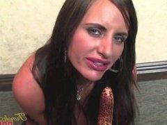 Fit Pornstar Nikki Jackson Fucks Herself With A Vibrator