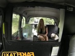 Blonde gets HUGE Facial in taxi