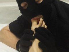 Mistress Maria and Slave Foot Worship