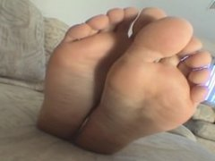 Diamond puts her stinky feet in you're face !!
