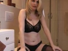 Blonde german MILF Tina hardcore and dirty talk