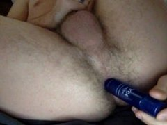 Anal fun and cumming in condom while wife is gone