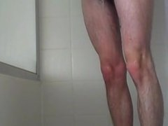 jacking off in the shower