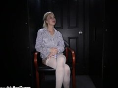 Gloryhole Secrets Blonde cutie sucks off 12 cocks part 1