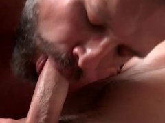 Twink fucked in mouth and ass by big hairy bear