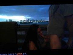 Hott Brunette Gives BJ On Cam - cbsexcams.com