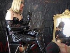 Divine Smoking Mistress & Ashtray slave