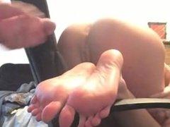 big cumshot on gf soles