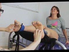 tickling bound feet