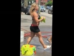 Chantel Drops Shorts At Car Wash To Go Full Bikini For A Few Bucks