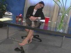 Nylon feet girls