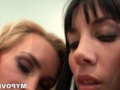 HD Lesbian blonde massager crush on client