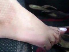 dangling sexy feet
